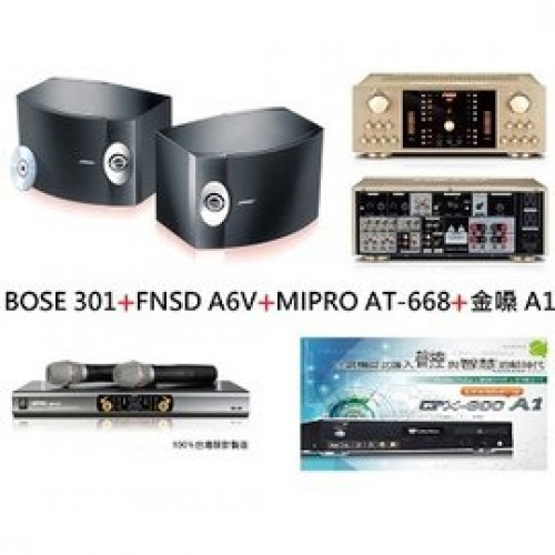 BOSE 301+FNSD A6V+MIPRO AT-668+金嗓 A1