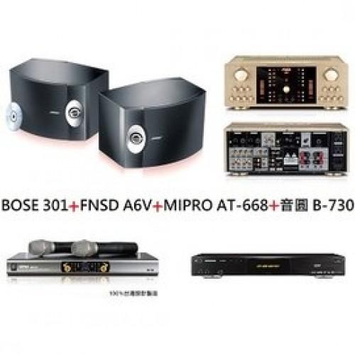 BOSE 301+FNSD A6V+MIPRO AT-668+音圓 B-730