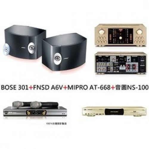 BOSE 301+FNSD A6V+MIPRO AT-668+音圓 NS-100