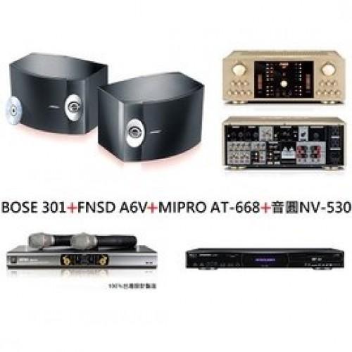 BOSE 301+FNSD A6V+MIPRO AT-668+音圓 NV-530